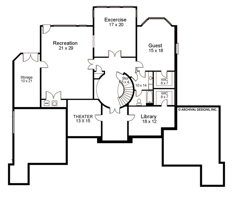 Devereaux basement floor plan