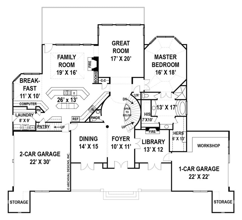 Devereaux first floor, floor plan