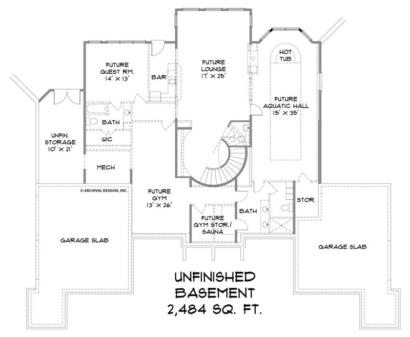 Devereaux Place basement floor plan