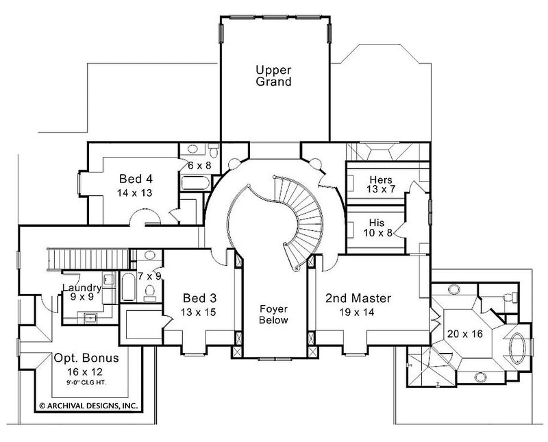 Devereaux Place second floor, floor plan