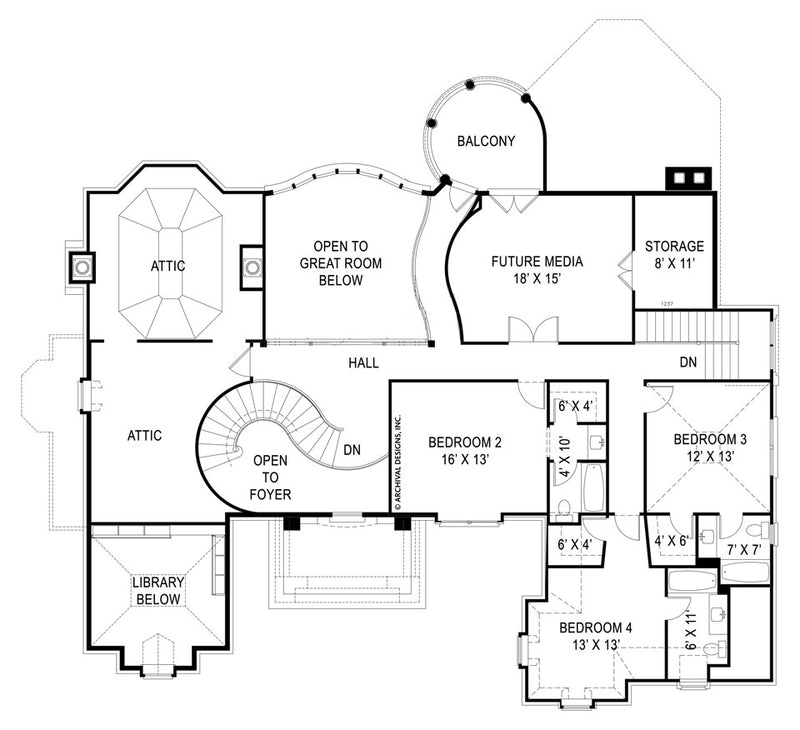 Di Medici Place second floor, floor plan