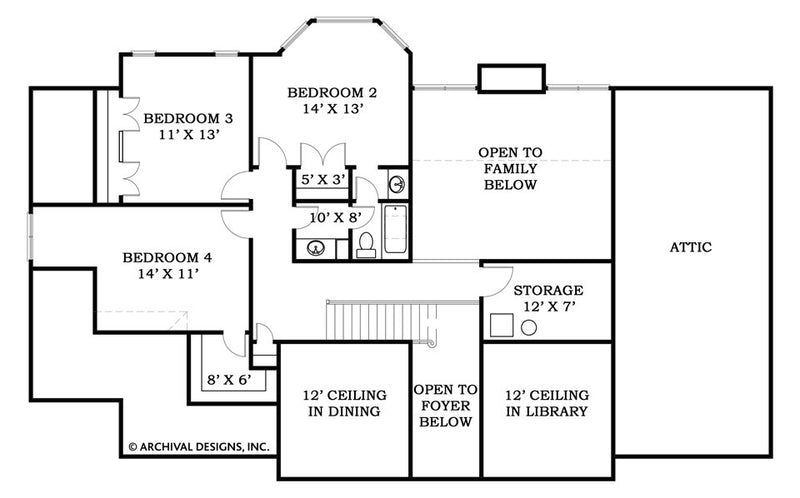 Dogwood second floor, floor plan