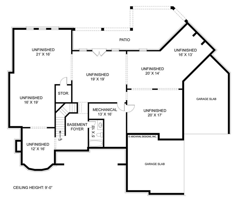 Drewnoport basement floor plan
