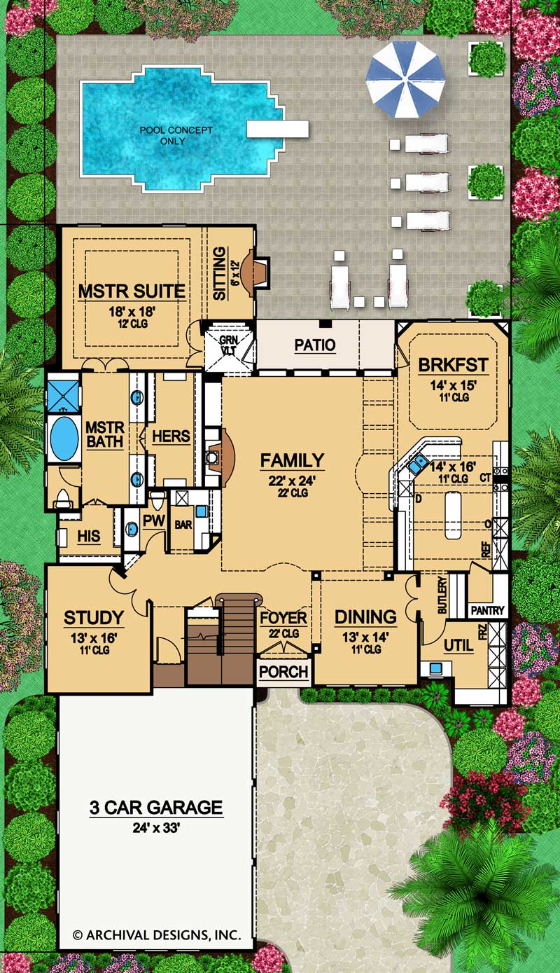 Duke first floor, floor plan