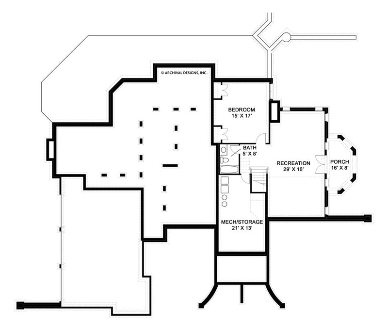 Dunrobin Castle basement floor plan