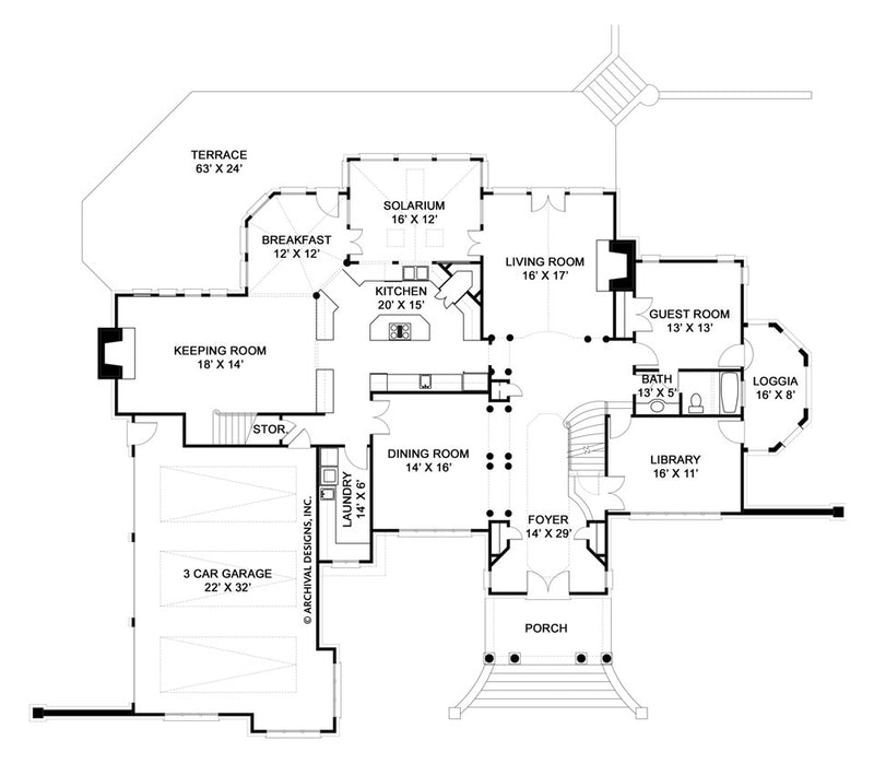 Dunrobin Castle first floor, floor plan