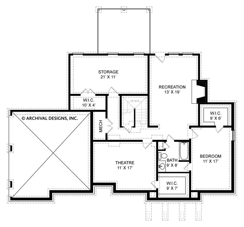 Eastcote Place basement floor plan