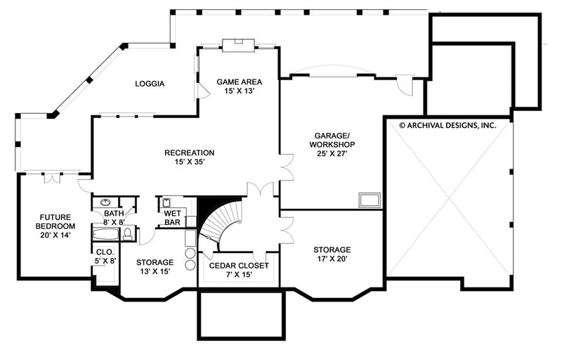 Elms basement floor plan