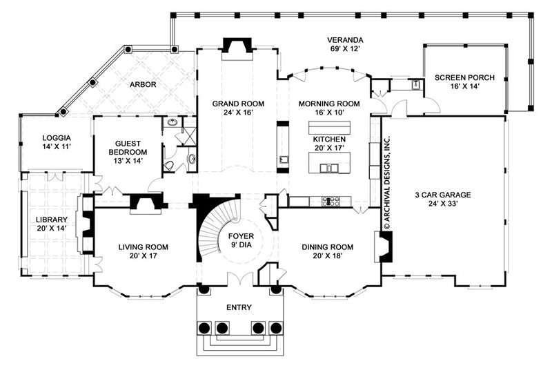 Elms first floor, floor plan
