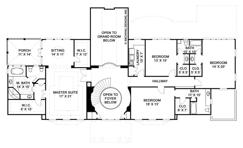 Elms second floor, floor plan