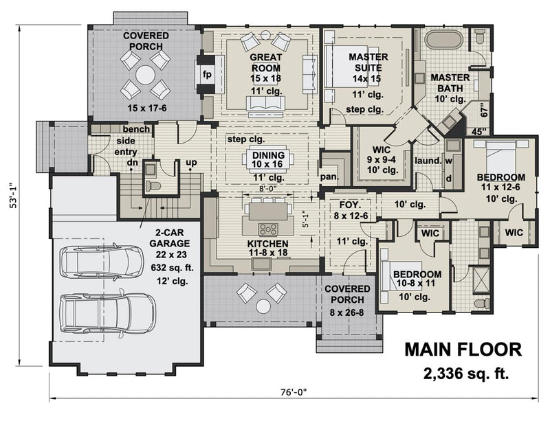 Emarie May Farmhouse | First Floor Plan