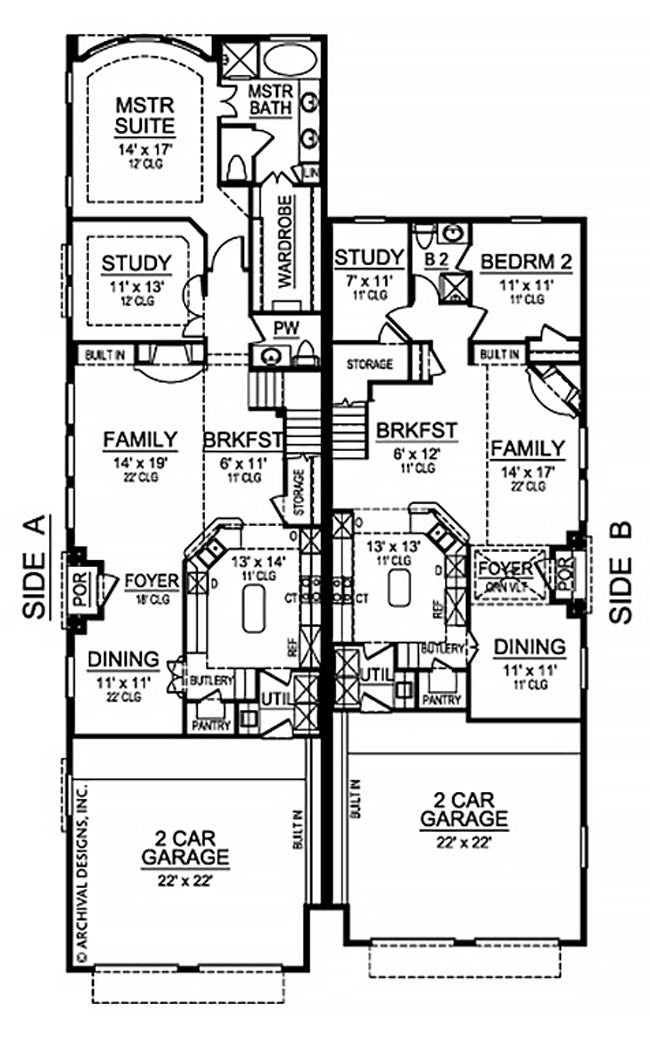 Escondido Duplex first floor, floor plan