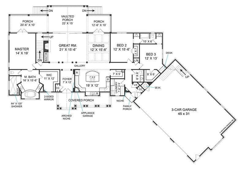 Fairhope first floor, floor plan