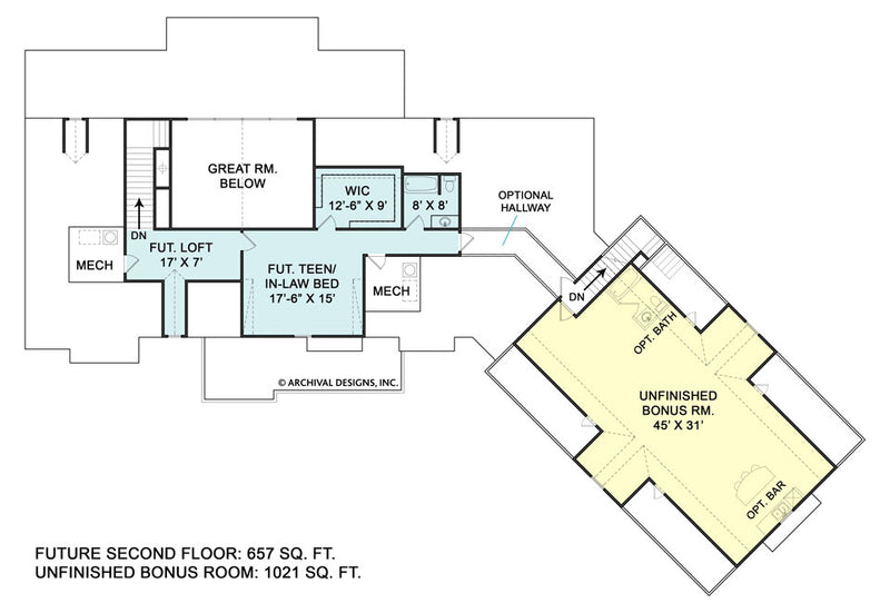 Fairhope second floor, floor plan
