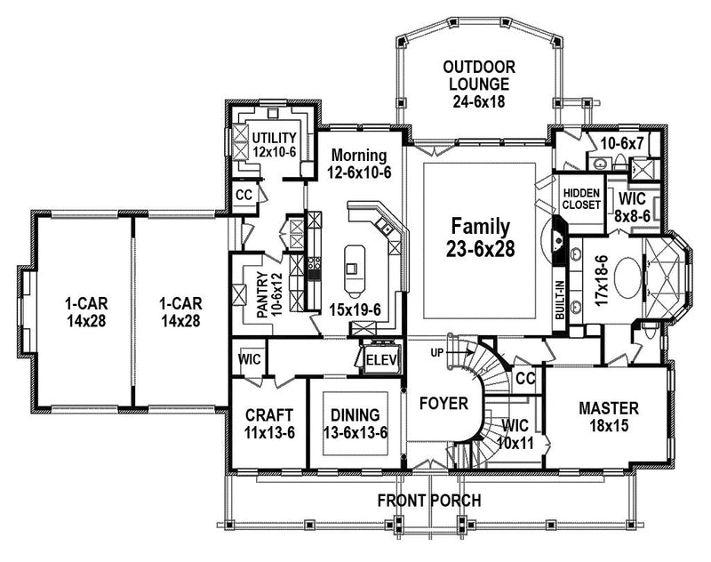 Farmington, first floor plan