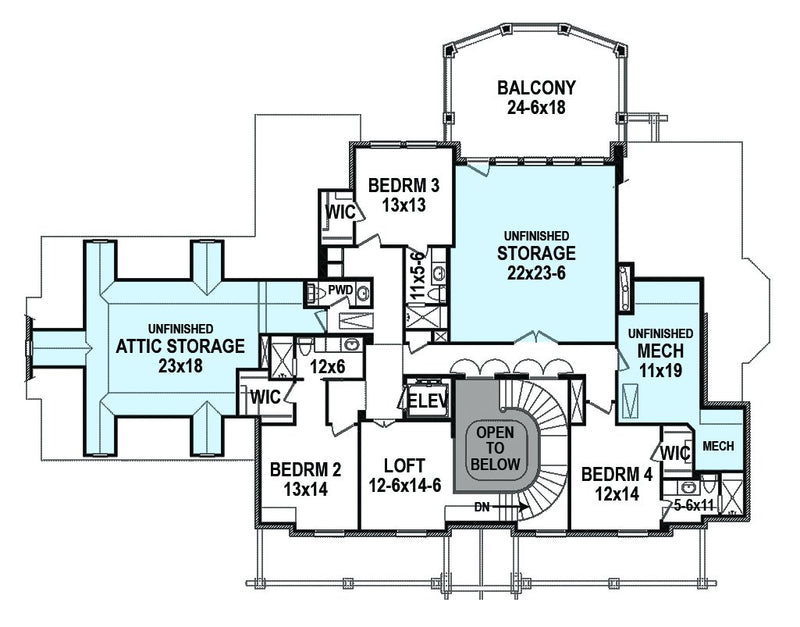 Farmington, second floor plan