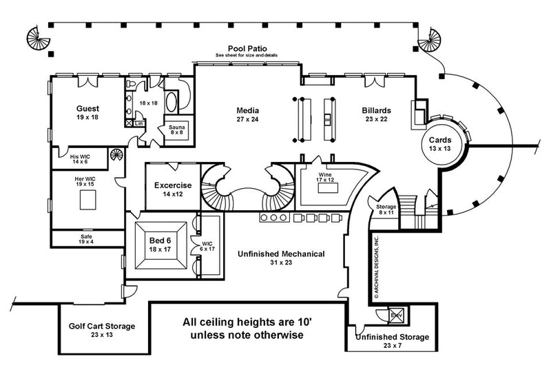 Fountainbleau basement floor plan