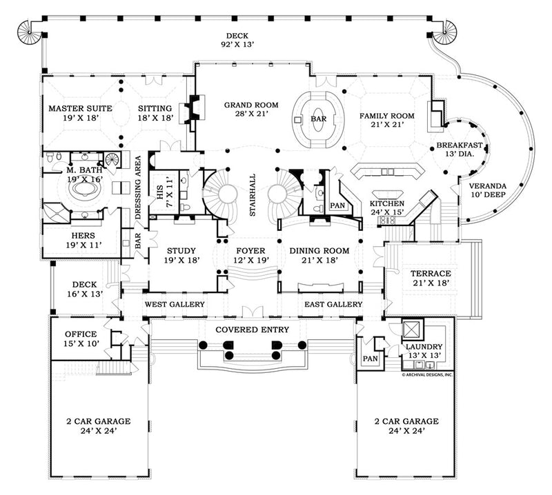 Fountainbleau fist floor, floor plan