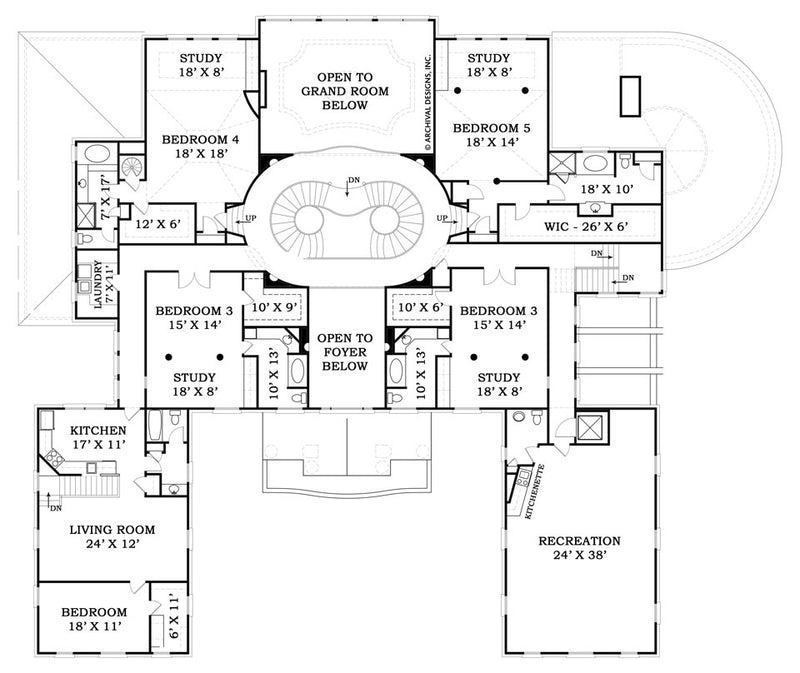 Fountainbleau second floor, floor plan