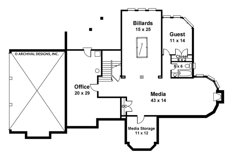 Galloway II basement floor plan