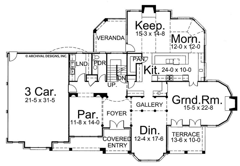 Galloway II first floor, floor plan