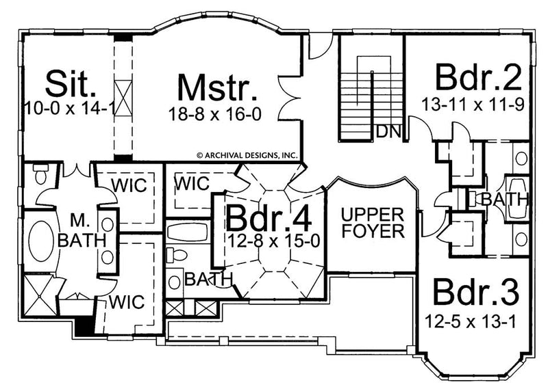 Galloway II second floor, floor plan
