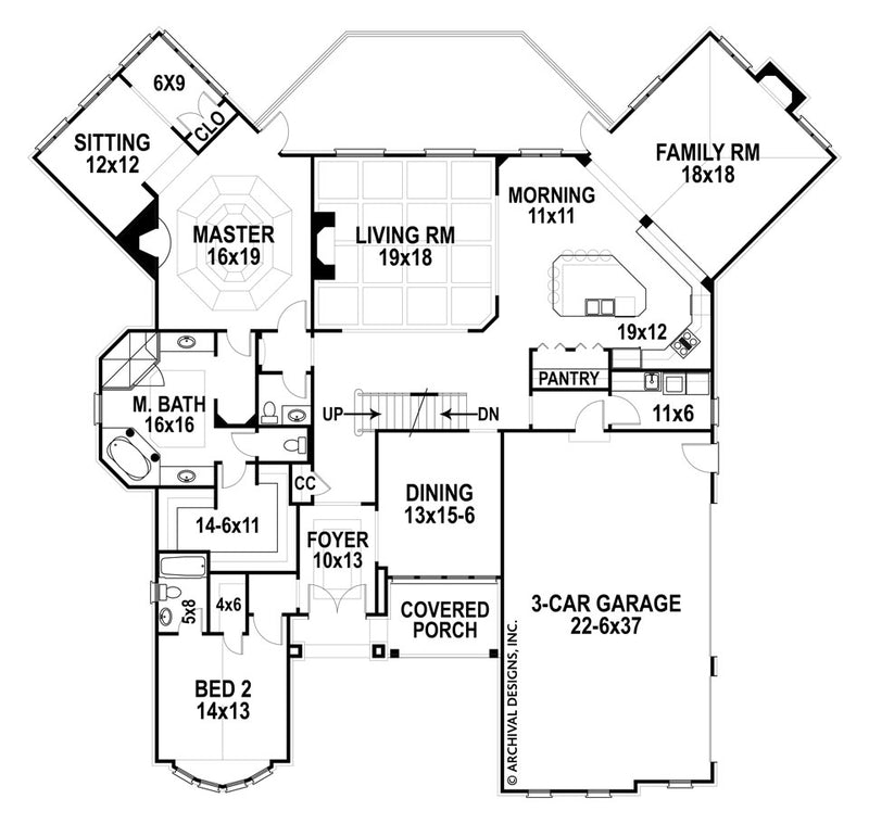 Glenwood first floor, floor plan