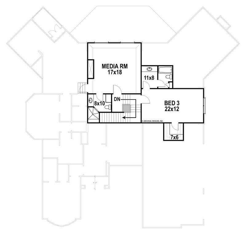 Glenwood second floor, floor plan