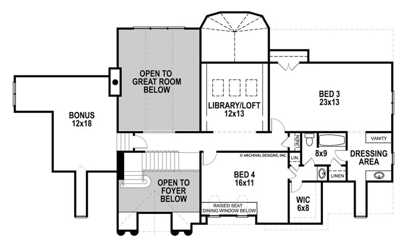 Gloucester second floor, floor plan
