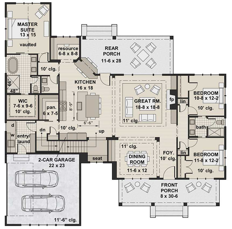 Goose Creek, first floor plan