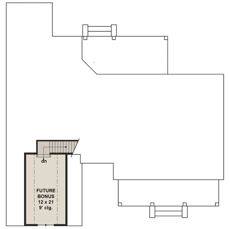 Goose Creek, second floor plan