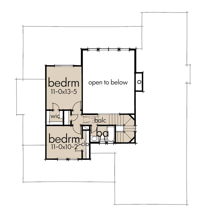 Second Floor Plan | Granbury House Plan