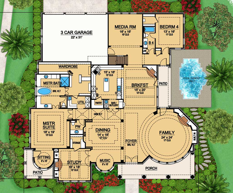 Gray Hawk | First Floor Plan