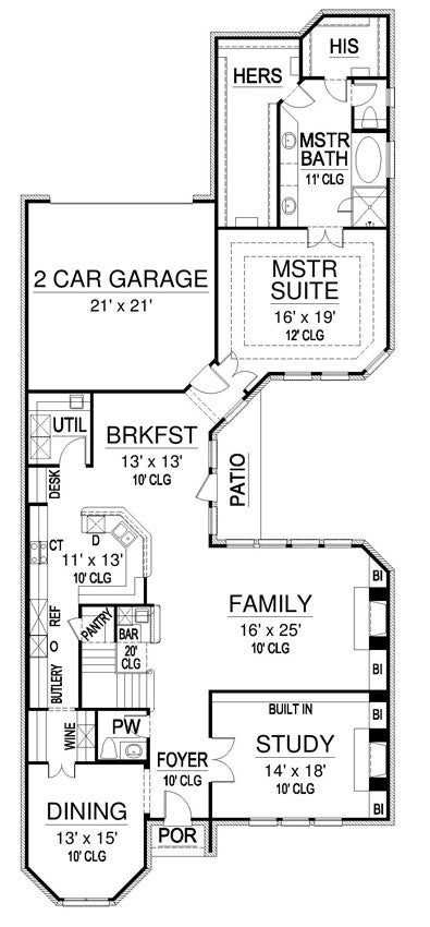 Gray Rock House | First Floor Plan