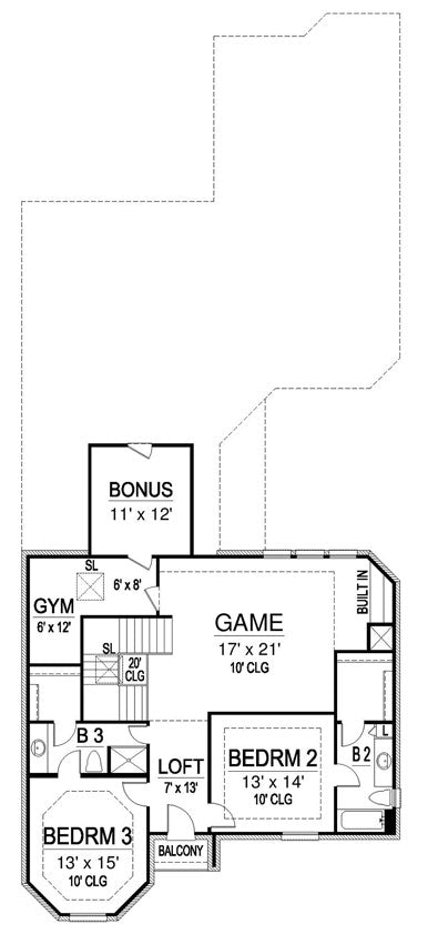 Gray Rock House | Second Floor Plan