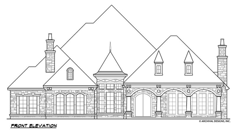 Gray Stone House Plan
