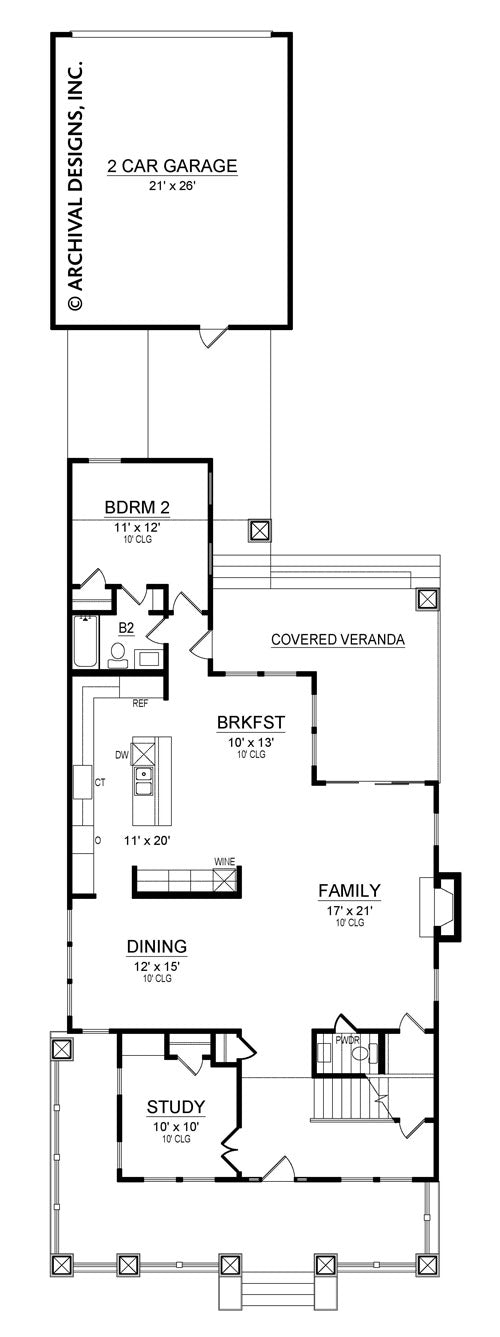 Greenville first floor, floor plan