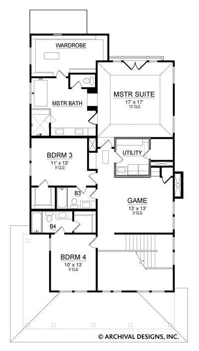 Greenville second floor, floor plan