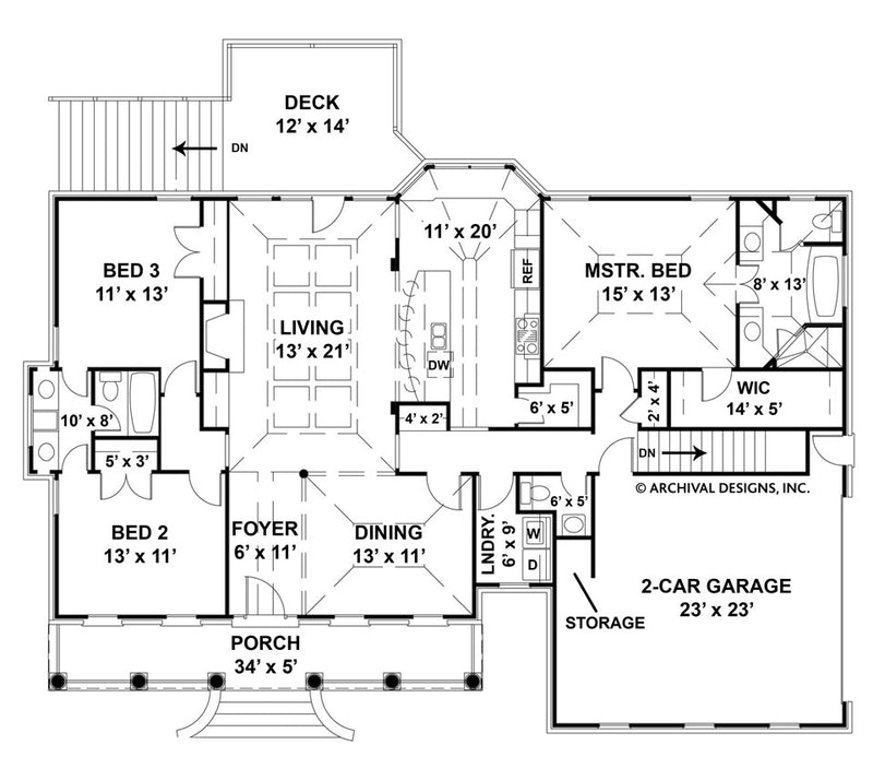 Harthaven Place first floor, floor plan