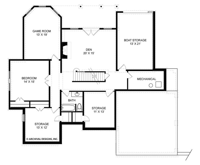 Hatfield Place basement floor plan