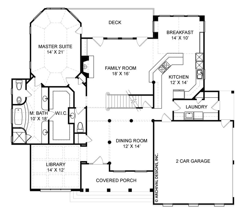 Hatfield Place first floor, floor plan