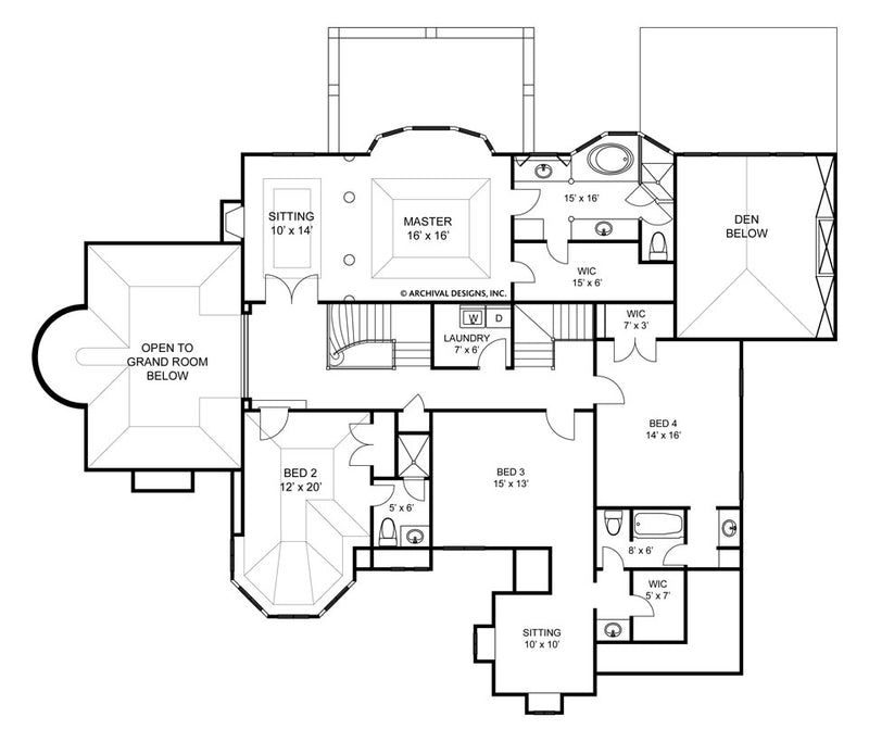 Hautbois II second floor, floor plan