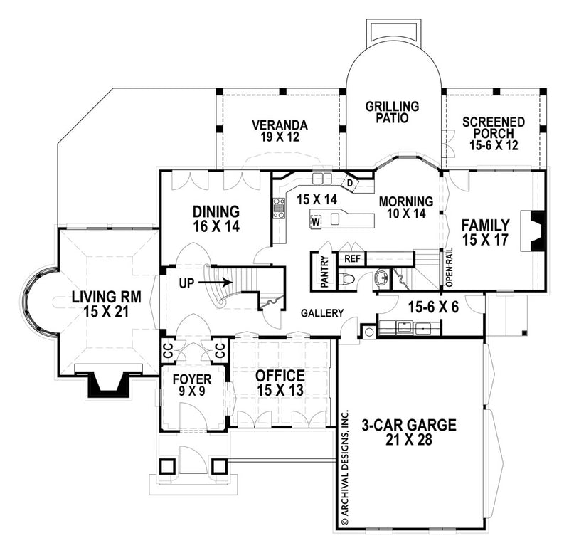 Hautmoore first floor, floor plan
