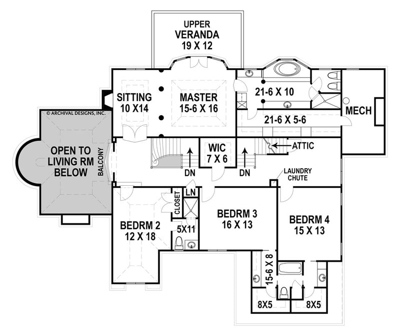 Hautmoore second floor, floor plan