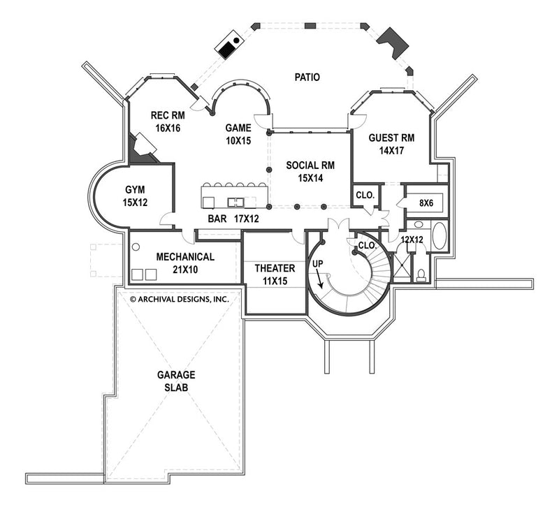 Hennessey basement floor plan