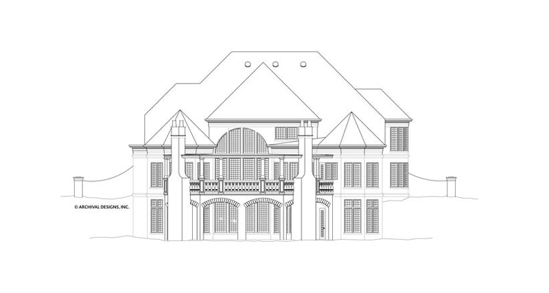 Hennessey House Courtyard House Plan