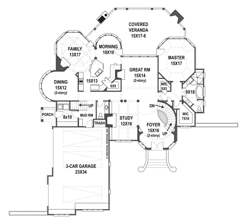 Hennessey first floor plan
