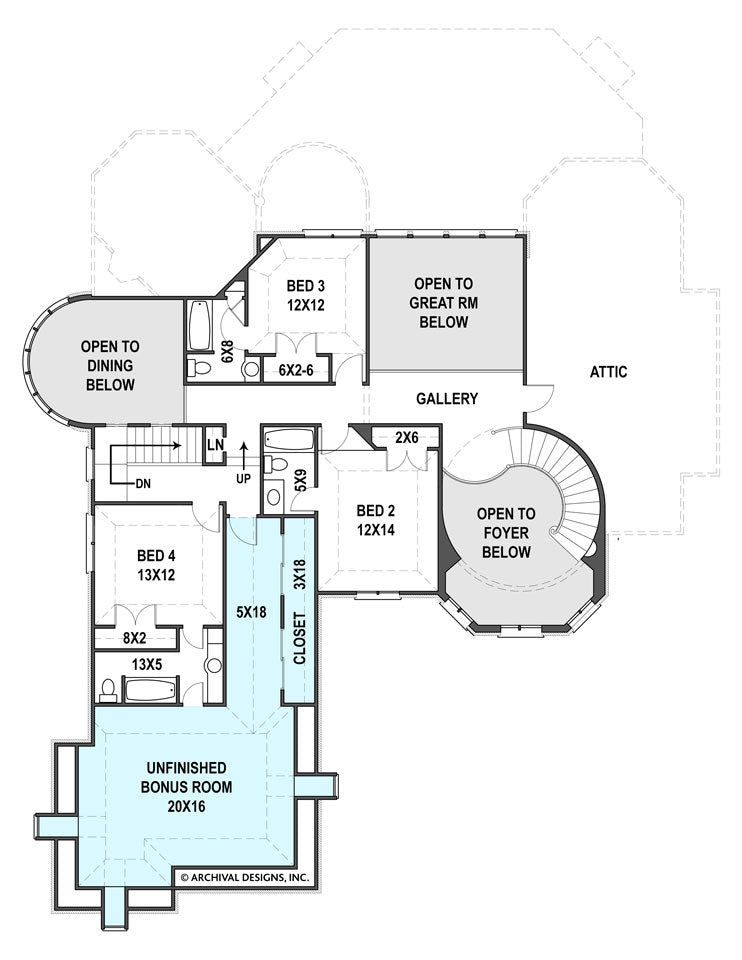 Hennessey second floor plan