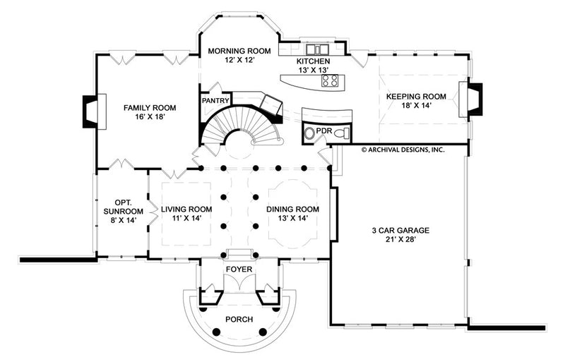Hepplewhite first floor plan