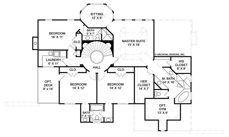 Hepplewhite second floor plan